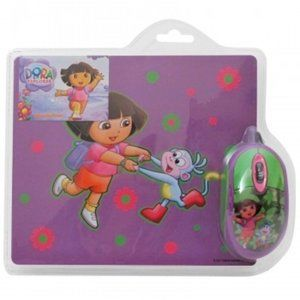 NEW DORA THE EXPLORER MOUSE AND MOUSE PAD KIT